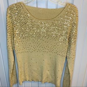 Sequin gold blouse